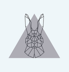 geometric head of a hare vector image