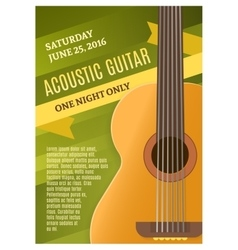 Guitar music poster vector