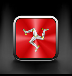 Isle of Man icon flag national travel icon country vector image vector image