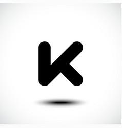 Letter K logo icon vector image