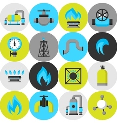 Natural gas production injection and storage Set vector image vector image