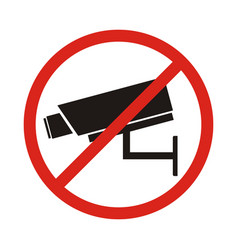 No security camera sign vector