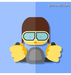 Pilot flat icon vector