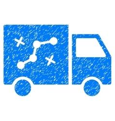 Route van grainy texture icon vector