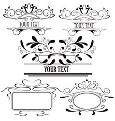 set of design elements 2 vector image vector image
