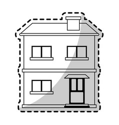 two story house icon image vector image vector image