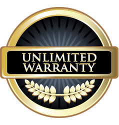 Unlimited warranty icon vector