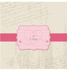 vintage wedding love card - for design invitation vector image vector image