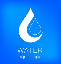 Water aqua logo vector