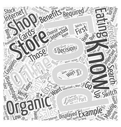 What are the disadvantages to eating organic foods vector