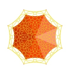Umbrella top view vector