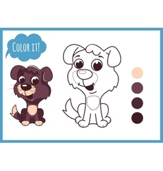 Cute little puppy cartoon character vector