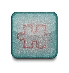 Game puzzle icon vector