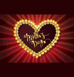 Mothers day typographic card red version vector