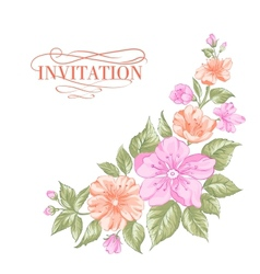 Sakura holiday invitation card vector
