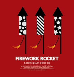 Firework rocket vector