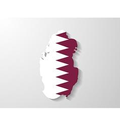 Qatar flag map with shadow effect vector