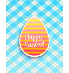 Easter card egg blue vector