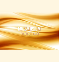Golden satin silk waves yellow background vector