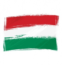 Grunge hungary flag vector