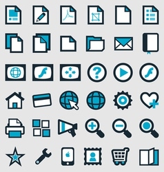 Blue publishing icons vector