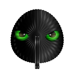 Fan and green eyes vector