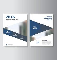 Blue annual report leaflet brochure flyer t vector