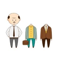Bold man wardrobe set vector