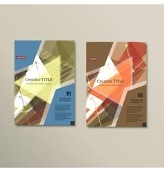 brochure layout design template vector image vector image
