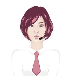 Call center woman vector