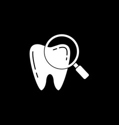 checking teeth solid icon vector image