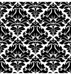 Classic damask seamless floral pattern vector