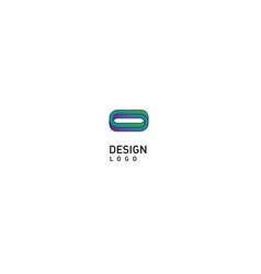 contour modern logo rings vector image vector image