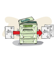 Copy machine vector