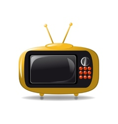 Cute tv animation vector image