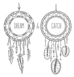 Dream catchers native american traditional symbol vector