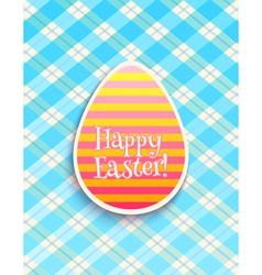 Easter card egg blue vector image vector image
