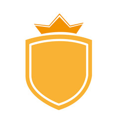 Elegant badge shield icon vector