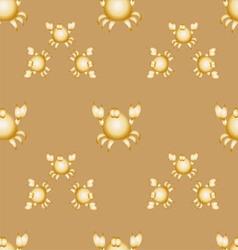 Golden crabs vector