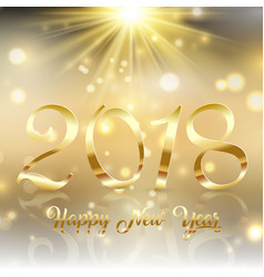 happy new year background with gold text under a vector image vector image