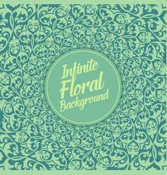 Infinite floral background elegant vector