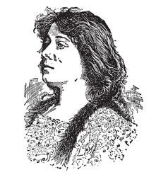 Julia marlowe vintage vector