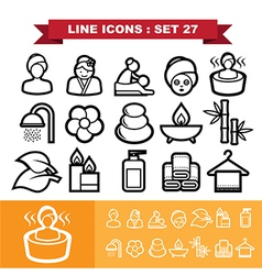 Line icons set 27 vector image