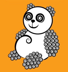 Panda decorative vector image