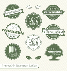 Renewable Resource Labels vector image