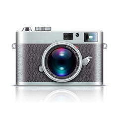 Retro style camera vector