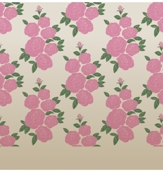 Rose elegant vintage seamless pattern vector