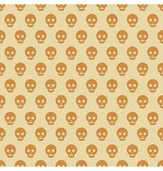 Seamless Halloween style skull pattern vector image vector image