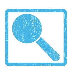 Search tool icon rubber stamp vector