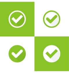 Set buttons with check marks vector image